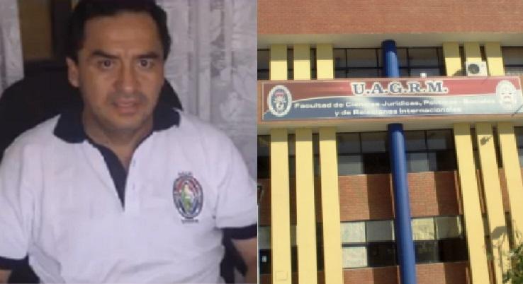 No sería la primera vez que el abogado Juan Carlos Herrera, agrede verbalmente a los estudiantes/Foto. Kandire