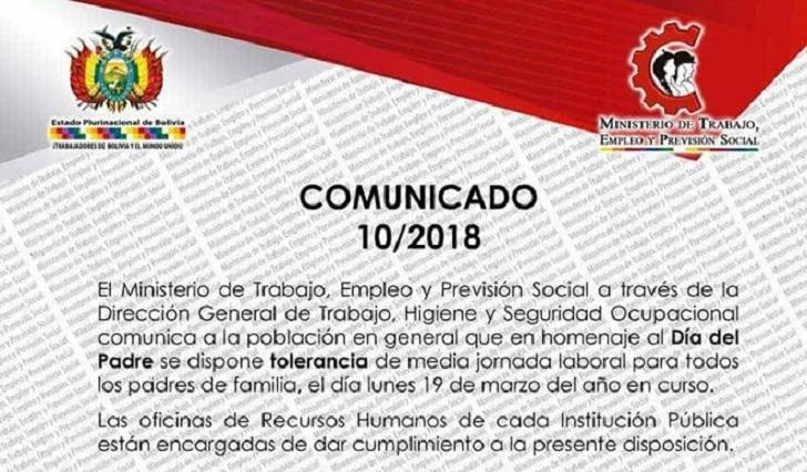 Ministerio De Trabajo Dispone Tolerancia De Media Jornada Por El Dia